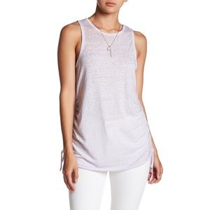 3/$20 Wild Pearl Cinch Ruched Burnout Tank Top